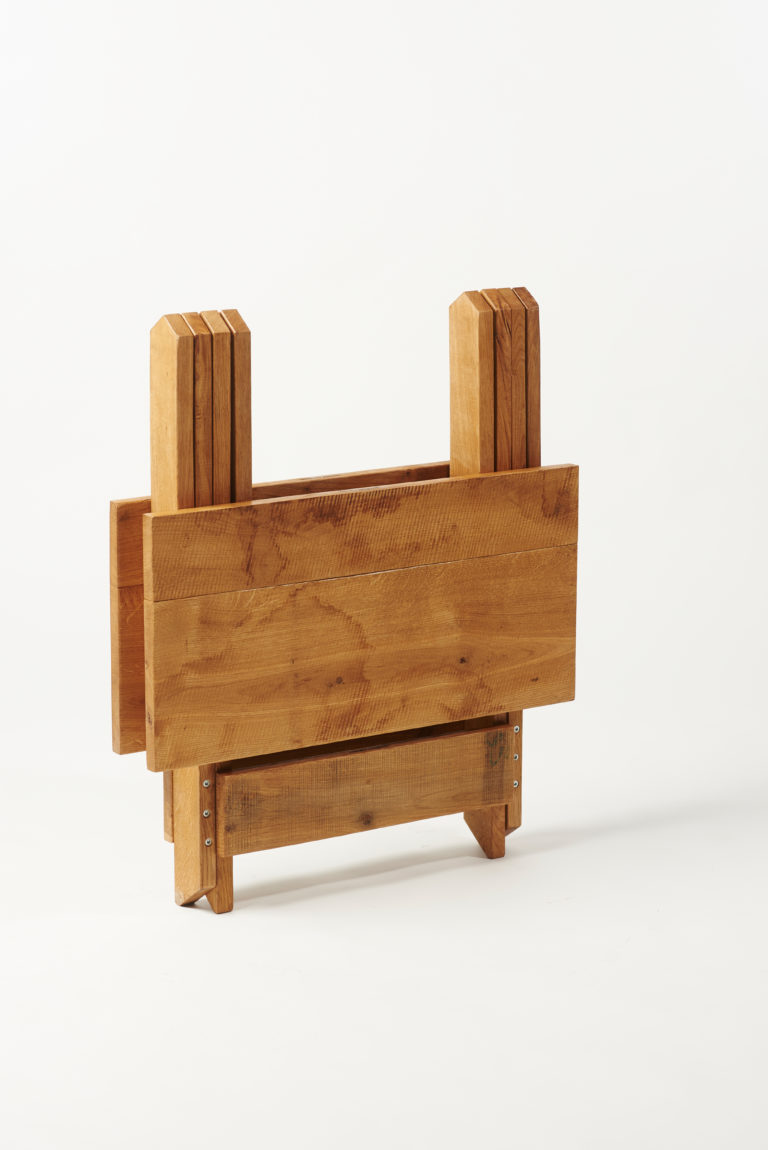 Bistro of Café tafel eiken ingeklapt Woody Original Vouwmeubelen